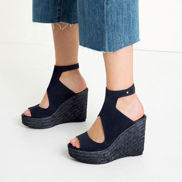 BOOT - STYLE LEATHER WEDGES-View all-SHOES-WOMAN | ZARA United Kingdom