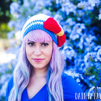 Sailor Moon Crochet Knit Hat -  MADE TO ORDER