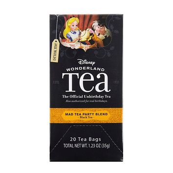 disney wonderland tea mad tea party blend black 20 tea bags 1.23 oz new sealed