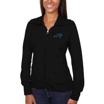 Carolina Panthers Cutter & Buck Women's Vancouver Full Zip Sweatshirt - Black