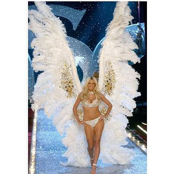 Large White Feather Angel Wings Show Pageant Wedding Cosplay Costume Vegas
