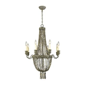 D3306 Cote des Basques Shell Chandelier - Free Shipping!