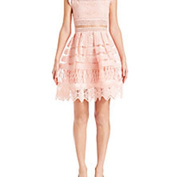 Alexis - Sage Crochet Fit-&-Flare Dress - Saks Fifth Avenue Mobile