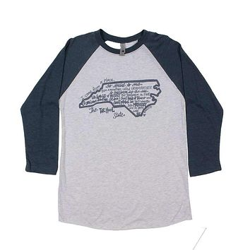 North Carolina I Come From A Place Raglan Tee Shirt by Southern Roots - FINAL SALE