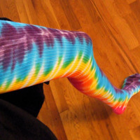 Tie Dye Thigh High Socks Rainbow Bliss Size Adult by twirlytoes