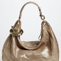 Jimmy Choo 'Solar - Large' Metallic Leather Hobo | Nordstrom