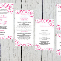 Pocket Wedding Invitation Template Set - Fuchsia Elegant Swirls DIY Printable Editable PDF Template Set - Instant Download - DIY You Print