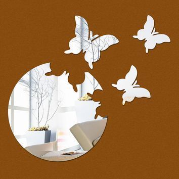 2017 new home decor wall sticker stickers diy kitchen acrylic mirror modern multi-piece package pattern large