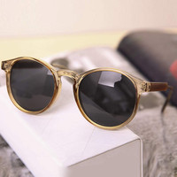 Champagne Celebrity Retro Sunglasses