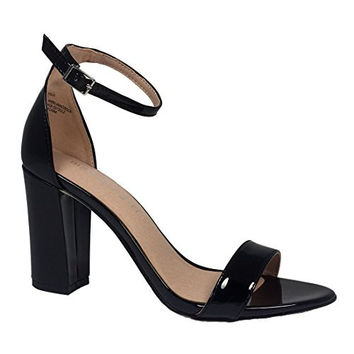 Madden Girl Women's Beella Dress Sandal,black heels not that high