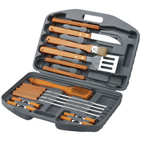 Chefs Basics Select 18-piece Bbq Set In Blow Mould Case