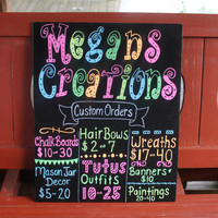 Custom Chalkboards for ANY OCCASION birthdays, seasonal, job signs, advertisement