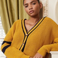 UO Varsity Striped Cardigan | Urban Outfitters