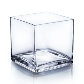 6-inch Clear Cube Vase - Free Shipping On Orders Over $45 - Overstock.com - 19221188 - Mobile