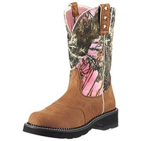 Ariat Women's Probaby Dry Well Tan & True Timber Pink Camo Boots