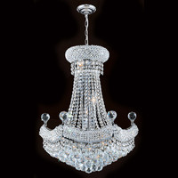 Worldwide Lighting Empire 12 Light Crystal Chandelier