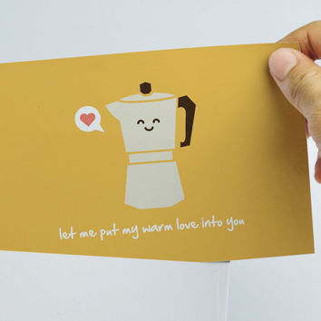 Cute Valentine's Day Card - Funny Valentine's Day Card - Coffee love card - Espresso card - Coffee card - Coffee lovers card
