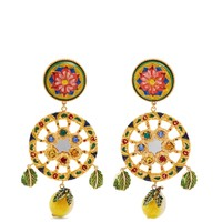 Crystal-embellished clip-on earrings | Dolce & Gabbana | MATCHESFASHION.COM UK