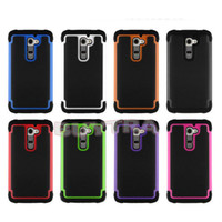 BB Hybrid Rugged Rubber Matte Hard Case Cover Skin For Android Phone LG G2 GO l