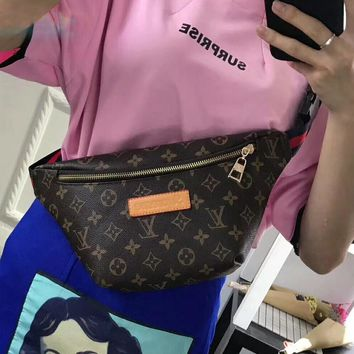 Tagre™ Louis Vuitton x Supreme Women Leather Waist bag Shoulder Bag Crossbody