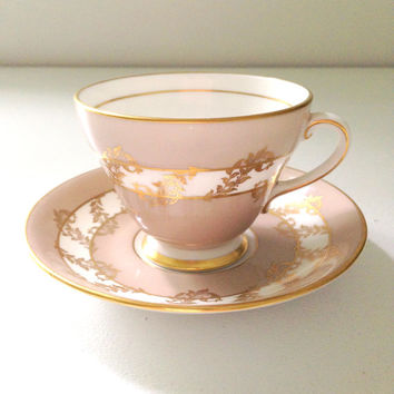 Vintage English Royal Grafton Fine Bone China Teacup and Saucer Tea Party Coffee Cup Breakfast
