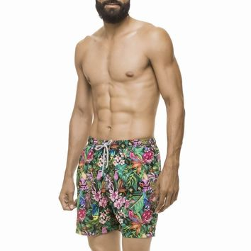Estivo Foliage and Birds Swim Trunks