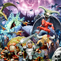 Ghouls 'n Ghosts Arthur video game poster