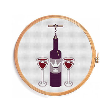 Vine cross stitch pattern / INSTANT DOWNLOAD