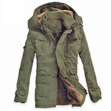 Plus Size New Winter Jacket Men Army Military Long Thick Warm Hooded Coat Casual Cotton-Padded Jacket Overcoat Parkas Hombre 5XL