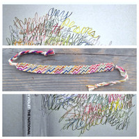 The National inspired friendship bracelet