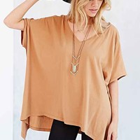 Truly Madly Deeply Double-V Raw-Edge Tunic Top-