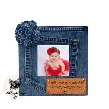 Picture Frame Personalized Picture Frame Personalized Frame Denim frame Jeans Frame Photo Frame Denim Decor Jeans Decor Personalized Gift