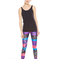 Girls Multi Bandana Leggings