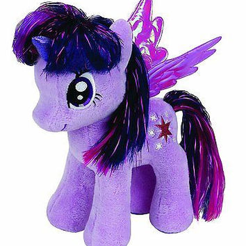 TY My Little Pony TWILIGHT SPARKLE 8in Beanie Baby Plush Toy