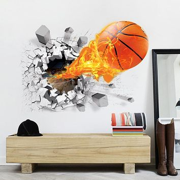 Home Wall DIY Decor Basketball Wall Sticker For Kids Rooms Children Bedroom Decoration Wall Art Decals Drop Shipping