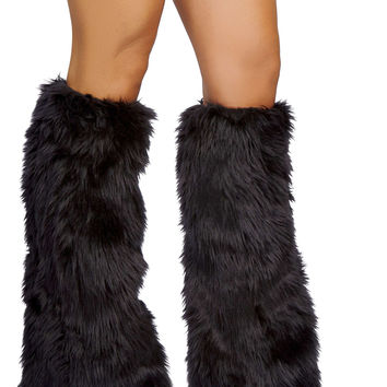 Fur Boot Covers - Black