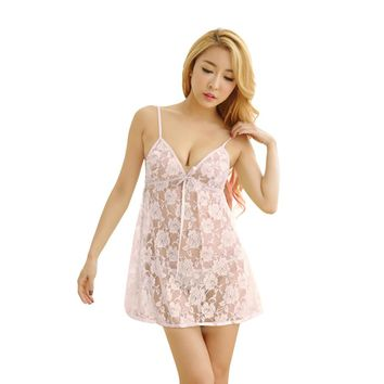 Sexy Women's Lingerie Lace G-string Dress Underwear Babydoll Nightwear