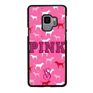 PINK DOG VICTORIA'S SECRET Samsung Galaxy S9 Case Cover