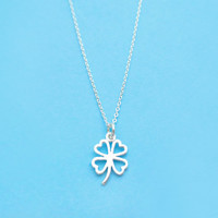 All, Sterling, Silver, Clover, Necklace, Clover, Small, Charm, Necklace, Minimal