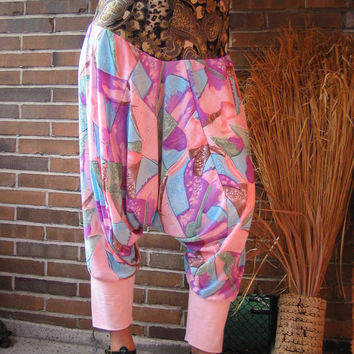 TALL Women Clothing Tall PANTS PINK mosaic pants 2xl xxl pants extra long pants summer pants tall beach pants tall yoga pants 18 20 22 24 26
