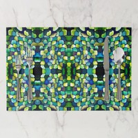 Contemporary Green Pattern Placemat