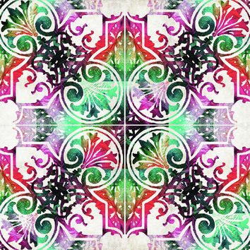 Bright Colorful Pattern Art - Color Fusion Design 10 By Sharon Cummings