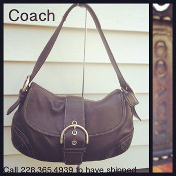 Black shoulder Coach bag