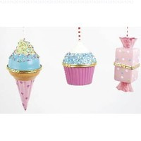 Sweets Hinged Box Christmas Ornament Set of 3