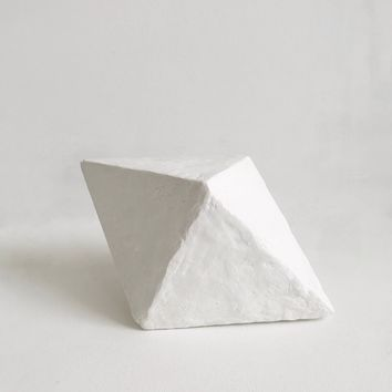 Diamond Plaster Sculpture