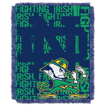 Notre Dame Fighting Irish NCAA Triple Woven Jacquard Throw (Double Play Series) (48x60)