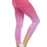 Yoga Capri Pants - Pink