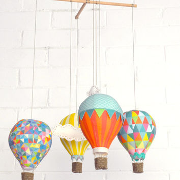 Hot Air Balloons - Fabric Panel in Carnivale
