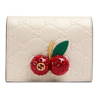 Gucci - Gucci Signature card case with cherries