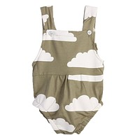 Baby Newborn Clothes Girl Rompers Sleeveless Cloud Print Summer Jumpsuit Infant Toddler Boy Girls Clothing Set